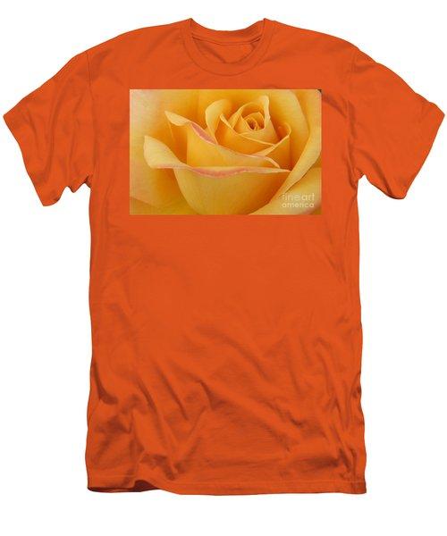 Blushing Yellow Rose Men's T-Shirt (Athletic Fit)