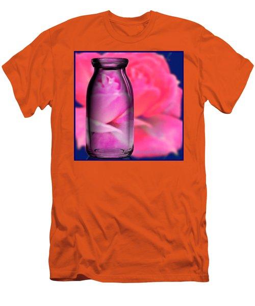 Bottled Romance A Romantic Rose Men's T-Shirt (Athletic Fit)