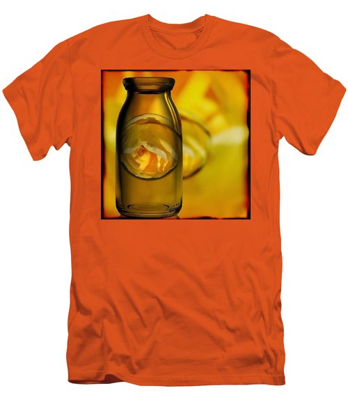 Bottled Yellow Rose Marble Men's T-Shirt (Athletic Fit)
