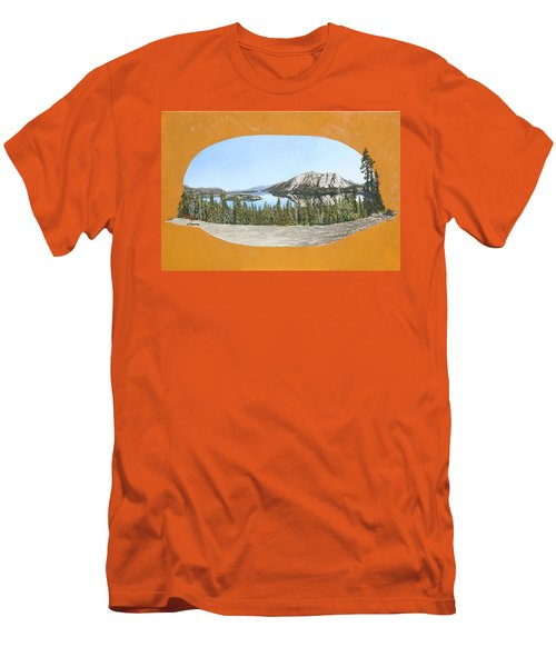 Men's T-Shirt (Slim Fit) featuring the painting Bove Island Alaska by Wendy Shoults