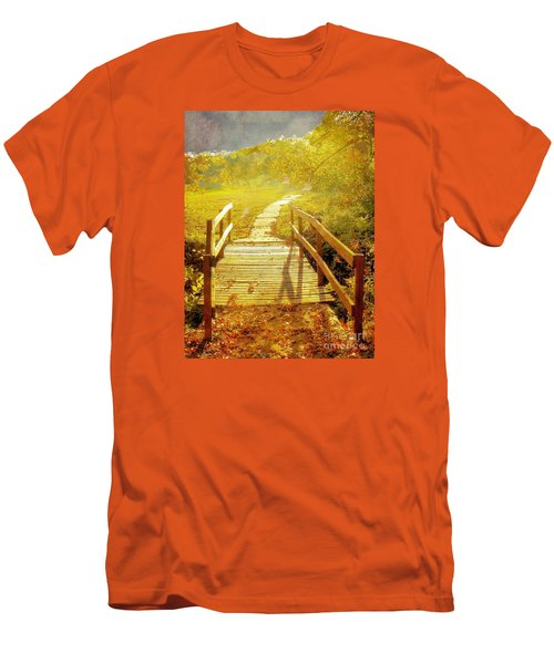 Bridge Into Autumn Men's T-Shirt (Athletic Fit)