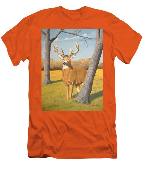 Bucky The Deer Men's T-Shirt (Athletic Fit)