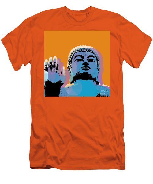 Buddha Pop Art - Warhol Style Men's T-Shirt (Slim Fit) by Jean luc Comperat