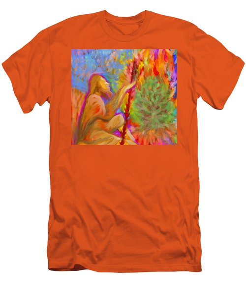 Burning Bush Of Yhwh Men's T-Shirt (Athletic Fit)