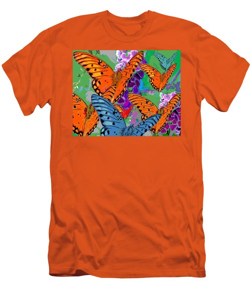 Men's T-Shirt (Slim Fit) featuring the digital art Butterfly Joy by Mary Armstrong