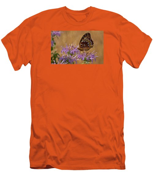 Butterfly On Bee Balm Men's T-Shirt (Athletic Fit)