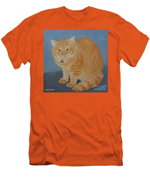 Butterscotch The Cat Men's T-Shirt (Slim Fit) by Mini Arora