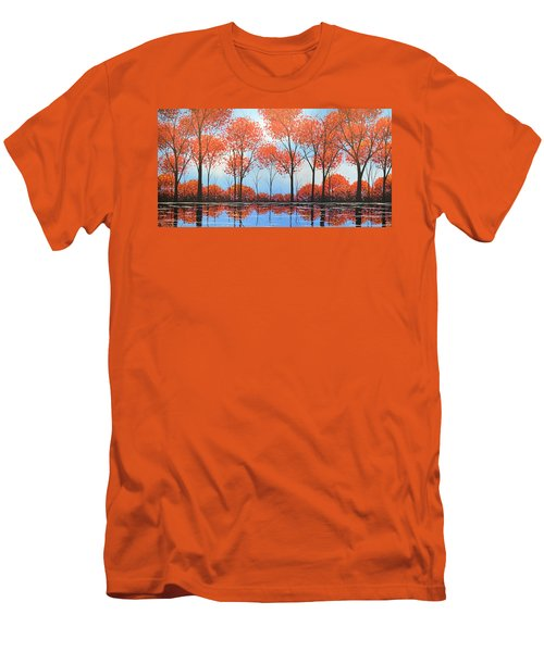 By The Shore Men's T-Shirt (Slim Fit) by Amy Giacomelli