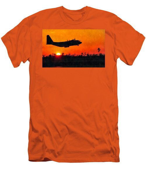 C-130 Sunset Men's T-Shirt (Athletic Fit)