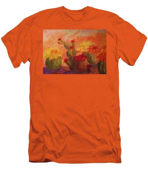 Cactus Garden Men's T-Shirt (Slim Fit) by Ellen Levinson