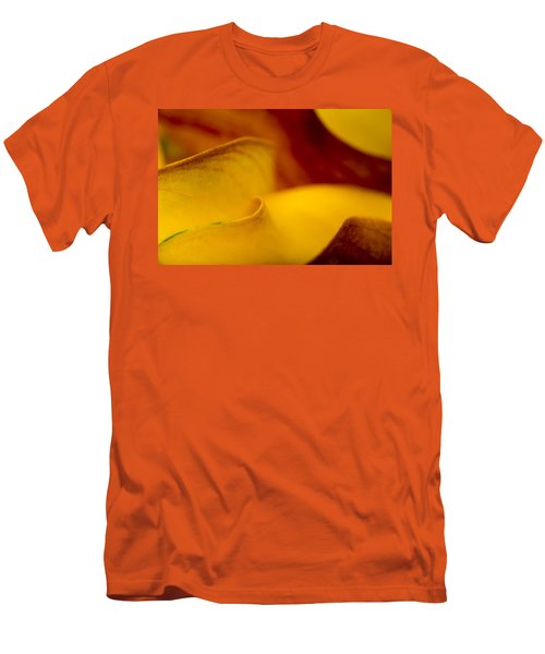 Men's T-Shirt (Slim Fit) featuring the photograph Calla Lily Waves by Sebastian Musial