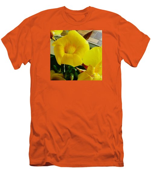Canario Flower Men's T-Shirt (Slim Fit) by The Art of Alice Terrill