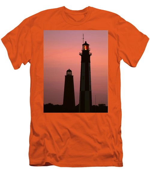 Cape Henry Lighthouses  Men's T-Shirt (Athletic Fit)