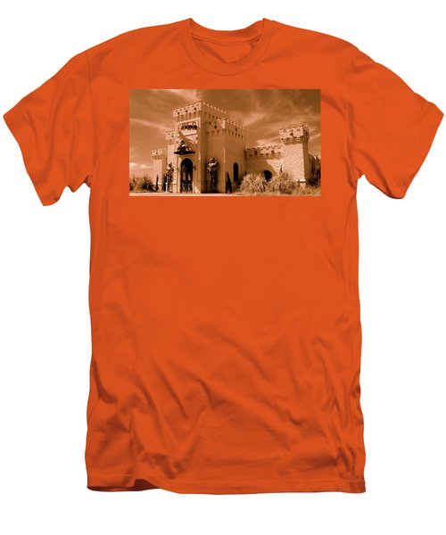 Men's T-Shirt (Slim Fit) featuring the photograph Castle By The Road by Rodney Lee Williams