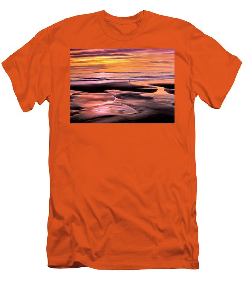 Men's T-Shirt (Slim Fit) featuring the painting Catalina Sunset by Michael Pickett