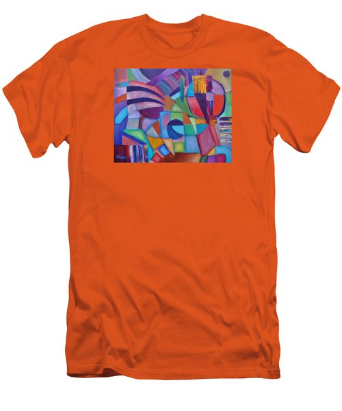 Men's T-Shirt (Slim Fit) featuring the painting Cerebral Decor # 2 by Jason Williamson