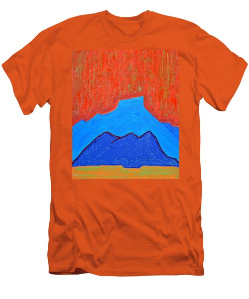 Cerro Pedernal Original Painting Sold Men's T-Shirt (Athletic Fit)