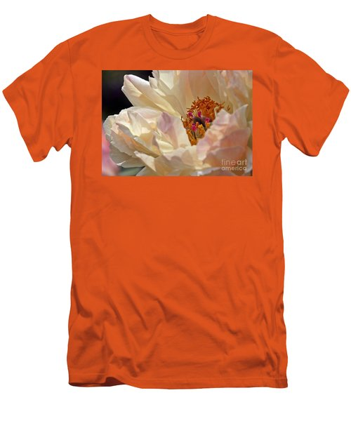 Champagne Peony Men's T-Shirt (Athletic Fit)