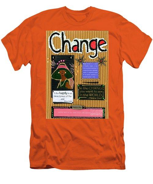 Change - Handmade Card Men's T-Shirt (Athletic Fit)