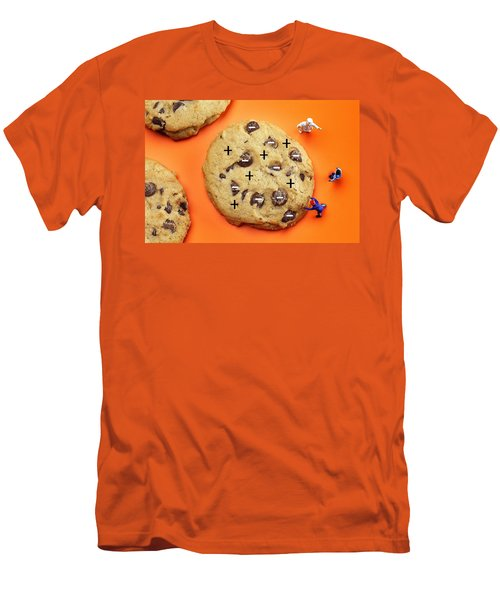 Men's T-Shirt (Slim Fit) featuring the photograph Chef Depicting Thomson Atomic Model By Cookies Food Physics by Paul Ge