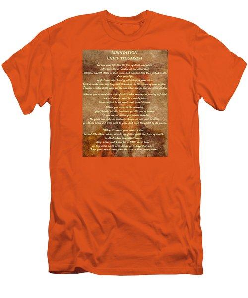 Chief Tecumseh Poem Men's T-Shirt (Slim Fit) by Dan Sproul