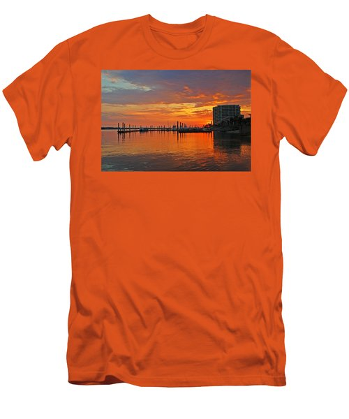 Men's T-Shirt (Slim Fit) featuring the digital art Colbalt Morning by Michael Thomas