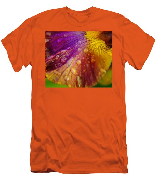 Color And Droplets Men's T-Shirt (Slim Fit) by Jeff Swan