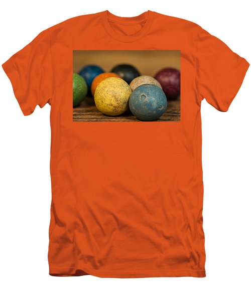 Colored Clay Marbles Men's T-Shirt (Athletic Fit)