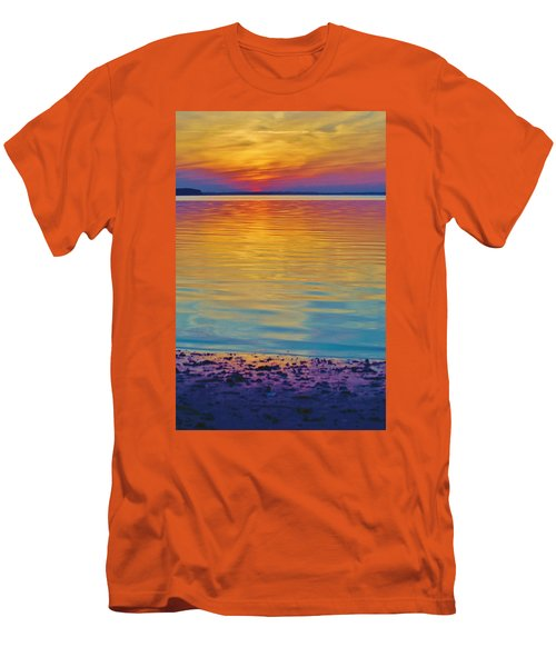 Colorful Lowtide Sunset Men's T-Shirt (Athletic Fit)