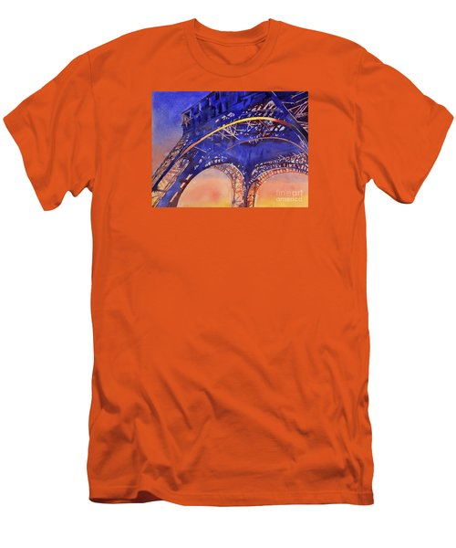 Colors Of Paris- Eiffel Tower Men's T-Shirt (Athletic Fit)
