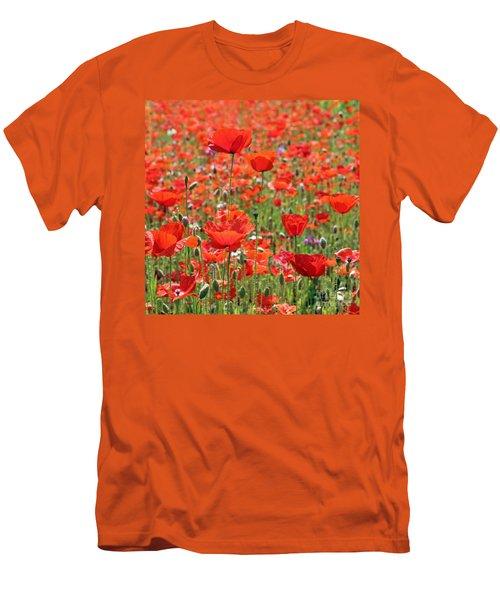 Commemorative Poppies Men's T-Shirt (Athletic Fit)