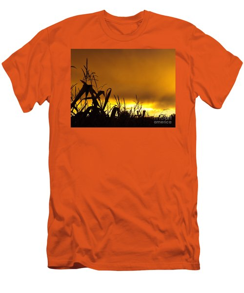 Corn At Sunset Men's T-Shirt (Athletic Fit)