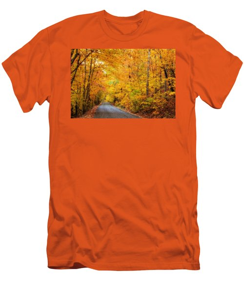 Country Road In Fall Men's T-Shirt (Athletic Fit)