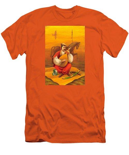 Cossack Mamay Men's T-Shirt (Slim Fit) by Oleg Zavarzin