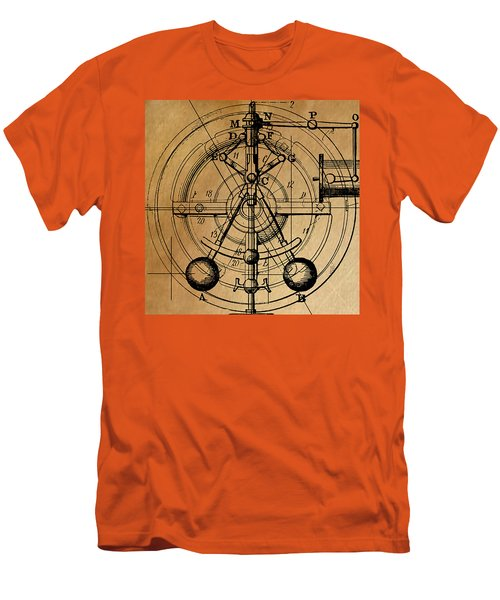 Men's T-Shirt (Slim Fit) featuring the painting Cyclotron by James Christopher Hill