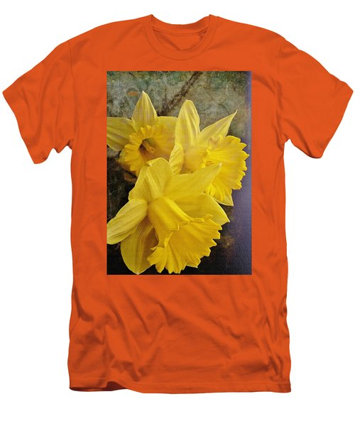 Men's T-Shirt (Slim Fit) featuring the photograph Daffodil Burst by Diane Alexander