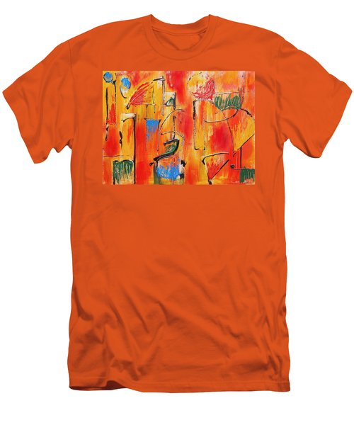 Men's T-Shirt (Slim Fit) featuring the painting Dancing In The Heat by Jason Williamson