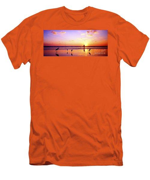 Daytona Beach Fl Surf Fishing And Birds Men's T-Shirt (Athletic Fit)