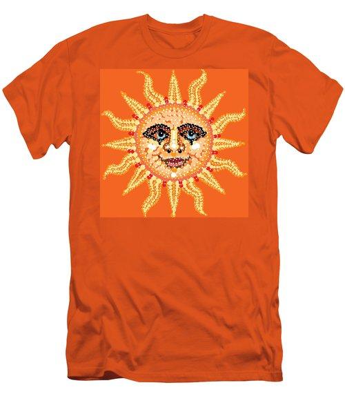 Men's T-Shirt (Slim Fit) featuring the digital art Dazzling Sun by R  Allen Swezey