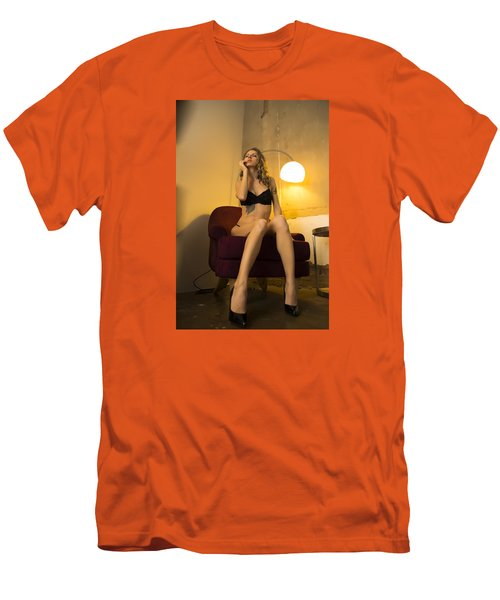 Men's T-Shirt (Slim Fit) featuring the photograph Deep Thoughts 1 by Mez