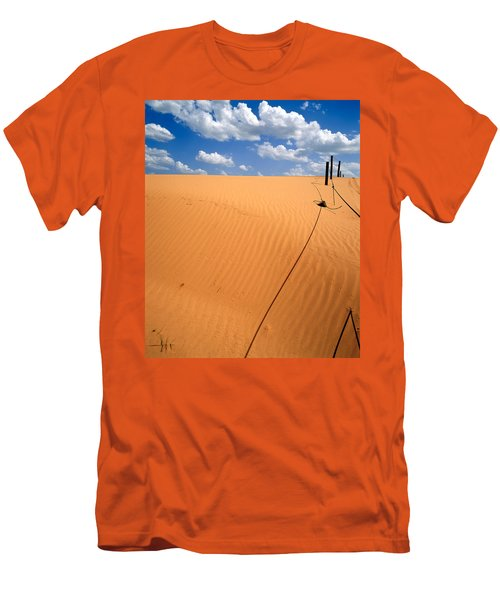 Dunes And Clouds Men's T-Shirt (Slim Fit)