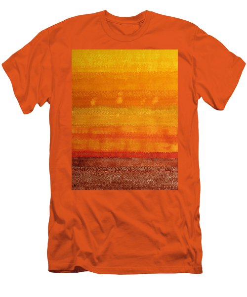 Earth And Sky Original Painting Men's T-Shirt (Athletic Fit)