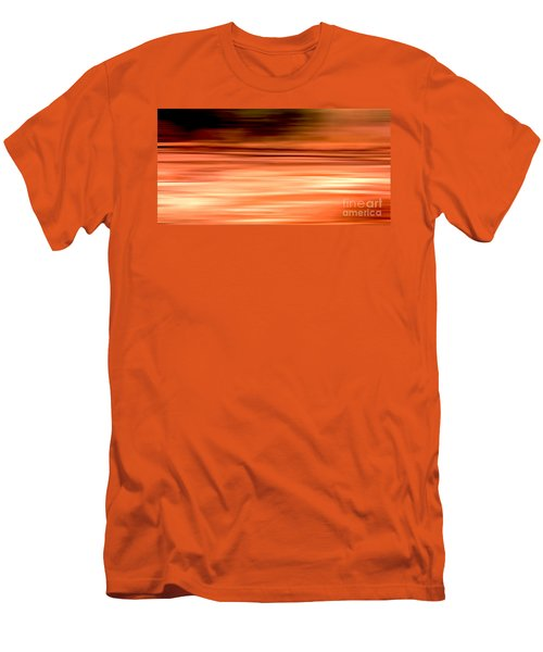 Abstract Earth Motion Burnt Orange Men's T-Shirt (Athletic Fit)