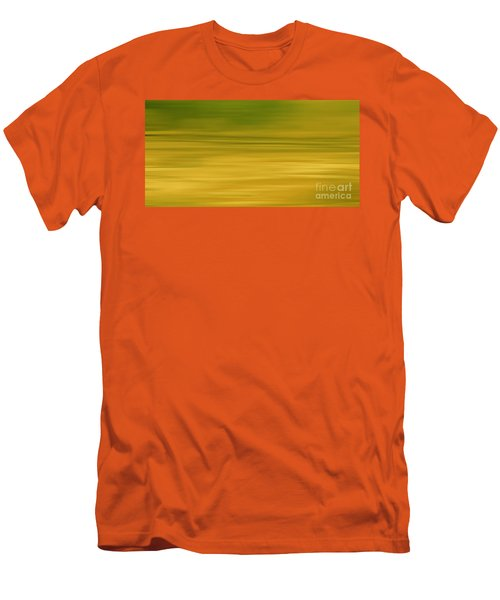 Abstract Earth Motion Lemon Grass Men's T-Shirt (Athletic Fit)