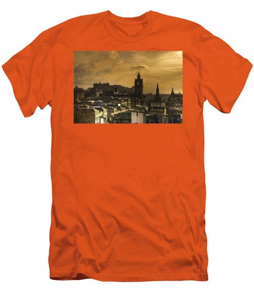 Edinburgh Dusk Men's T-Shirt (Athletic Fit)