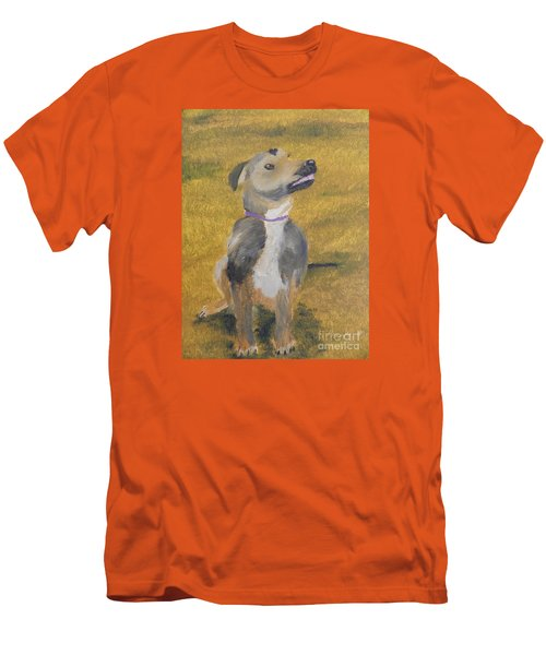 Men's T-Shirt (Slim Fit) featuring the painting Ella by Pamela  Meredith