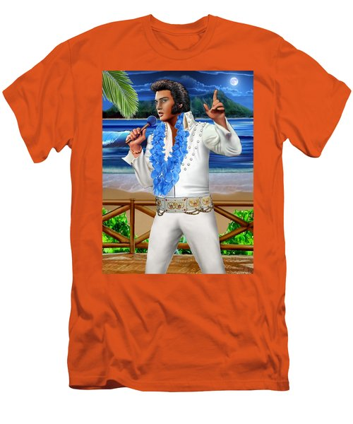 Elvis The Legend Men's T-Shirt (Slim Fit) by Glenn Holbrook
