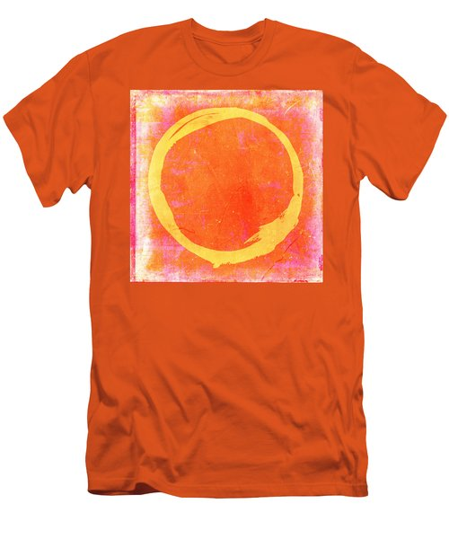 Enso No. 109 Yellow On Pink And Orange Men's T-Shirt (Slim Fit)