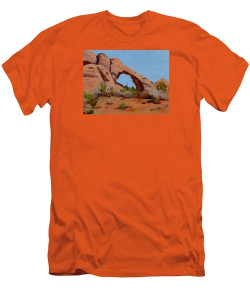 Men's T-Shirt (Slim Fit) featuring the painting Erosion by Pattie Wall