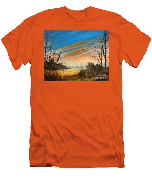 Evening Duck Hunt Men's T-Shirt (Athletic Fit)